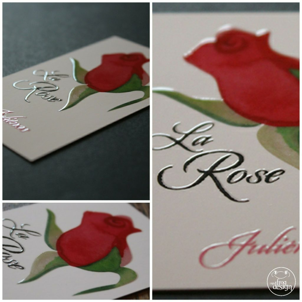 Logo illustration aquarelle hotel restaurant La Rose